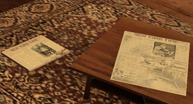 Zaostrený obrázok novín na zemi
