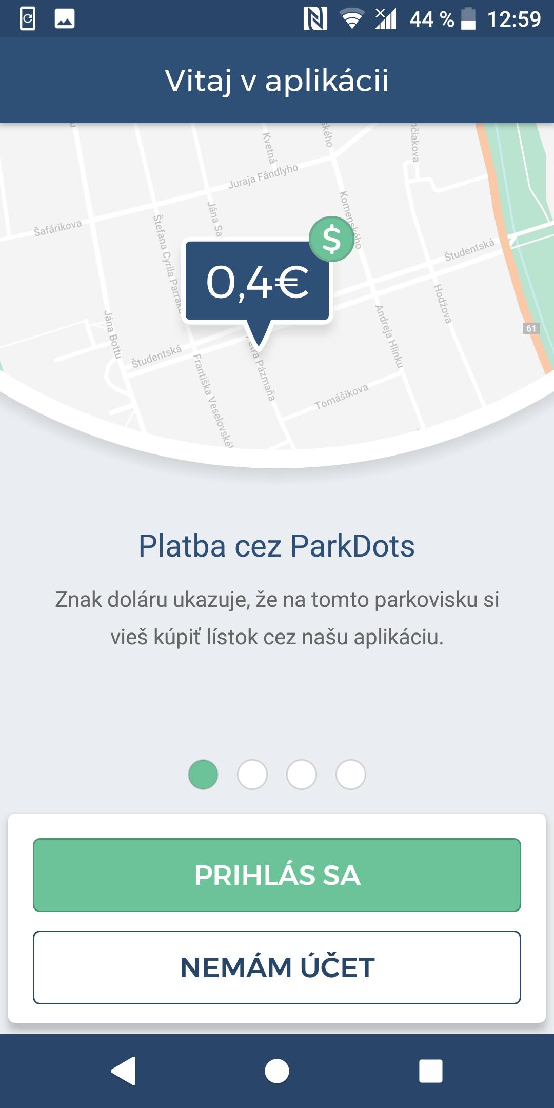 aplikácia; ParkDots