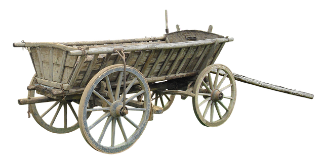 drevene koleso; voz; doprava