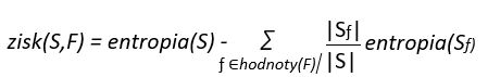 algoritmus rozhodovaci strom matematicky popis entropie